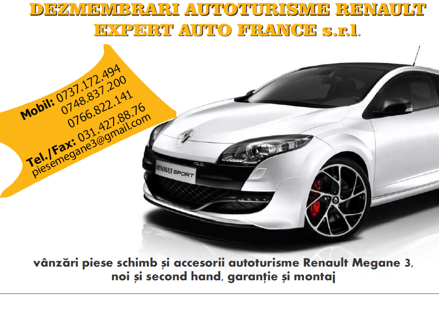 Vand caseta directie Renault Megane 3 / Fluence (2008-2015), stare perfecta . – cod Renault :  490017022R / 490018982R