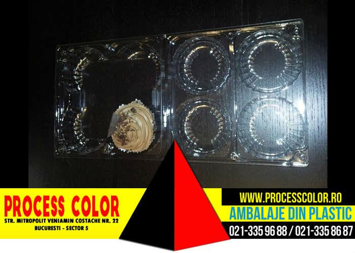 Caserole din plastic compartimentate pentru cupcakes
