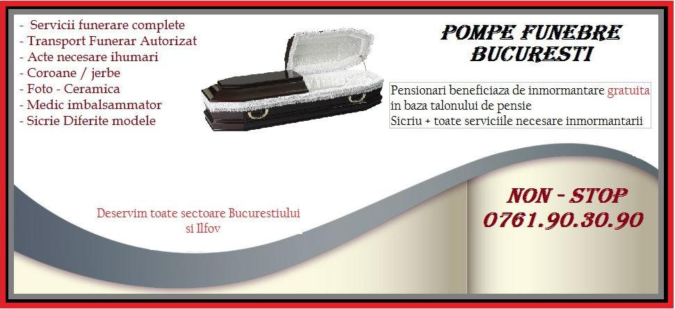 Pompe Funebre Bucuresti Non-Stop 0761.90.30.90